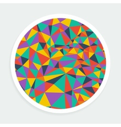 Round background bright mosaic vector image