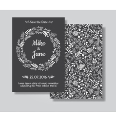 Rustic wedding invitation card set vector
