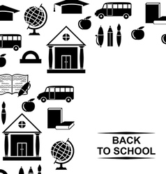 school background card vector image vector image