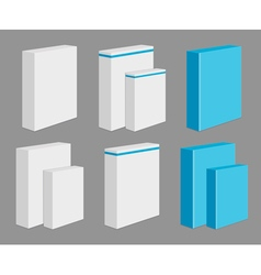 Set of blank product boxes vector