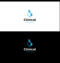 Simple clinical laboratory microscope logo vector