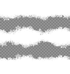 Snowflakes border eps 10 vector