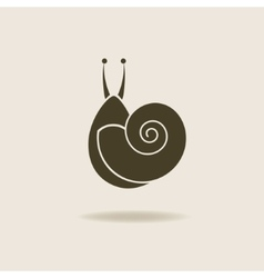 stylized silhouette of a snail vector image