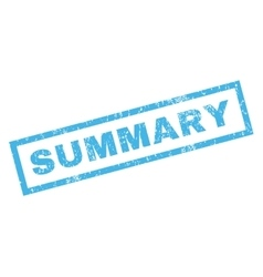 Summary rubber stamp vector