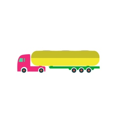 Tank truck Icon vector image