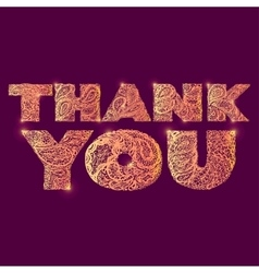 Thank you Quote lettering vector image vector image