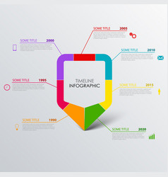 Time line info graphic with design colored vector
