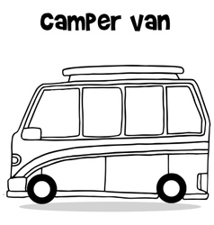 Transportation collection of camper van vector