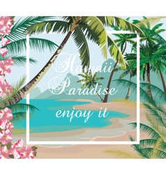 Tropical Exotic Paradise Beach vector image vector image