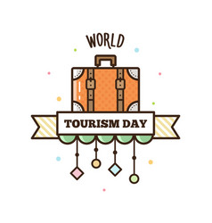 world tourism day vector image vector image
