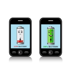 Charge mobile phone batteries vector