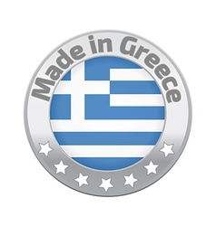 Made in greece logo or label vector
