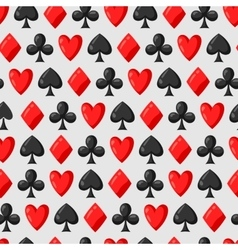 Seamless pattern of casino red and black card vector