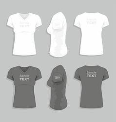 Women t-shirt vector