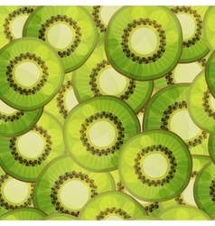 Seamless kiwi fruit pattern cartoon vector