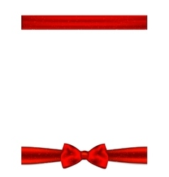 Gift card with place for text Red ribbon and bow vector image