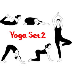 Girl engaged in yoga vector