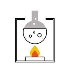 Laboratory tube test with burner base vector