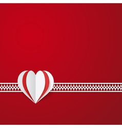 Red modern valentines card vector
