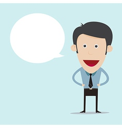 cartoon with blank bubble vector image