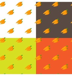 Flat carrots seamless pattern vector