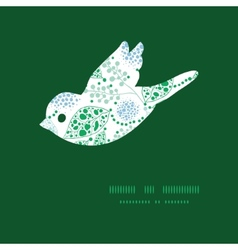 Abstract blue and green leaves bird vector