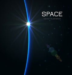 Space sunset vector