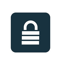 Lock icon rounded squares button vector