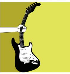 Hand and an electric guitar vector