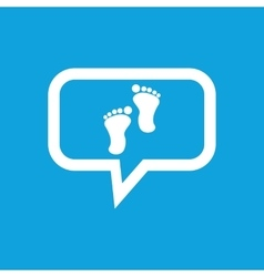 Footprint message icon vector