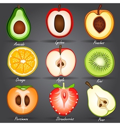 Fruits set2 vector