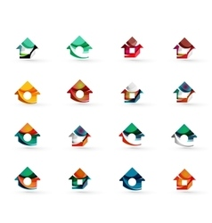 Set of various geometric icons - rectangles vector