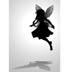 Pixie silhouette vector