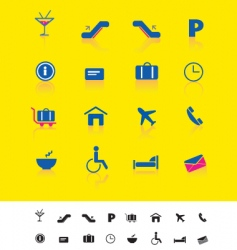 airport and travel iconset vector image