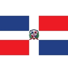 Dominican Republic flag image vector image