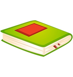 A green book vector image vector image