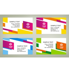 abstract creative business card line colorful temp vector image