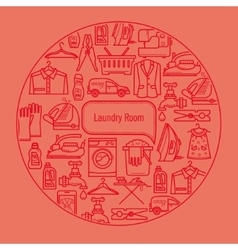 Background laundry room vector