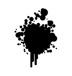 Black silhouette ink splash icon vector
