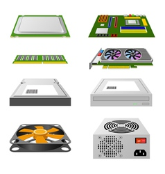 Computer hardware vector image vector image