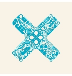 Cross icon vector