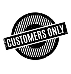 Customers only rubber stamp vector