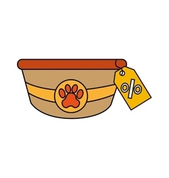 Dish pet isolated icon vector