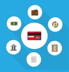 flat icon finance set of greenback interchange vector image