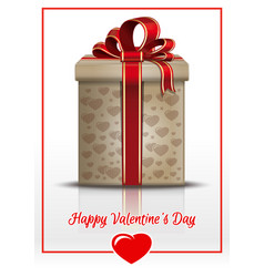 gift box for valentines day vector image vector image