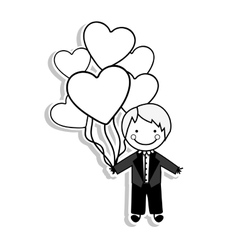 groom suit icon image vector image