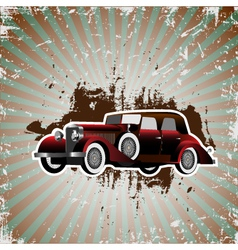 Grunge background with retro car vector