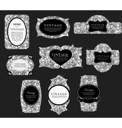 Label and frame of gold vector image