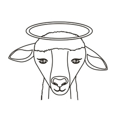 lamb face icon vector image