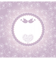 lovebirds greeting card vector image
